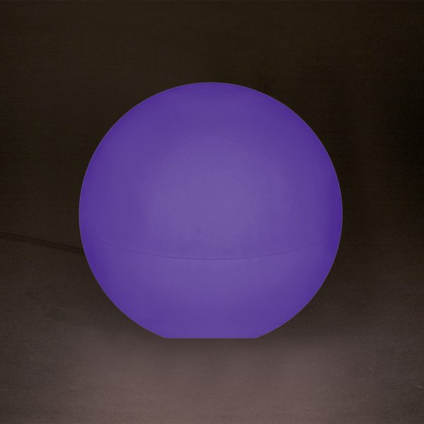 Lumen Style Globe in Violett - dank Multicolor-LED