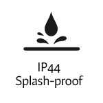 IP44 Splash-proof
