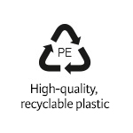 High-quality, recyclable plastic