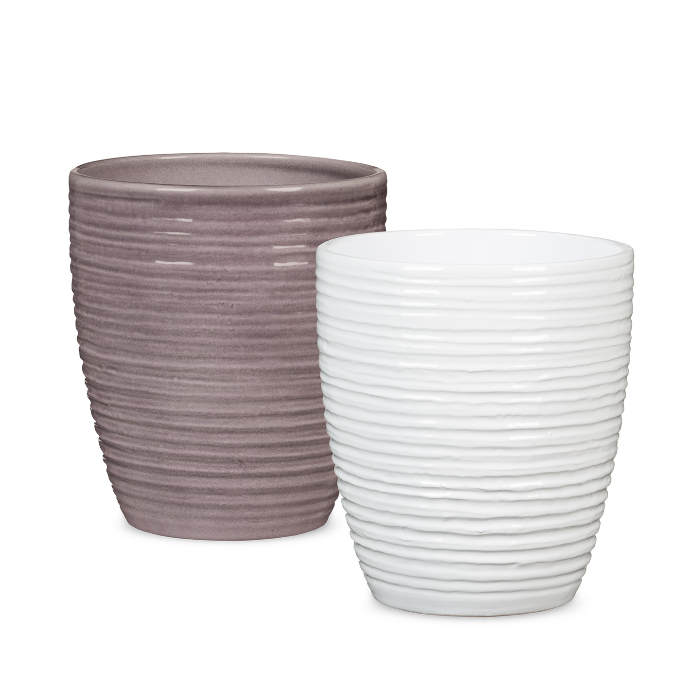 Orchid pot shape 669 Glass Malva and Alaska