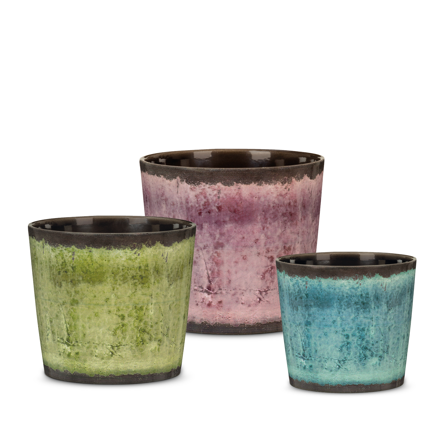 Tradition range: Meadow Glaze, Malva Glaze and Ocean Glaze